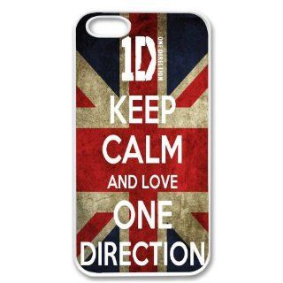 Apple iPhone 5 One Direction SLIM WHITE Sides Case Cover