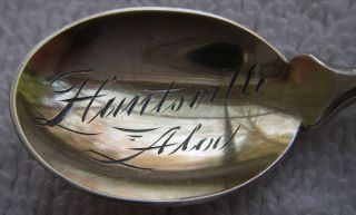 Fine Huntsville Alabama Souvenir Spoon Gorham Cherub Angel Pattern 77