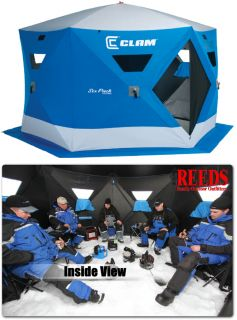 Clam Six Pack 1660 Mag 5 7 Man Ice Fishing Shelter House 9102