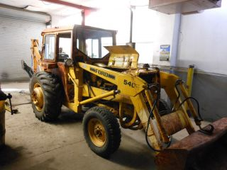 Ford 540 Tractor Loader with Woods 9000 Back Hoe Closed Cab