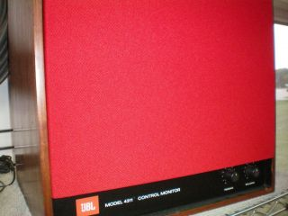 New JBL 4311 and JBL 4312 Red Speaker Grill Cover Reproductions