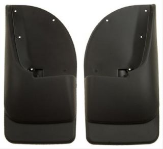 Husky Custom Molded Mud Flaps 57401 Thermoplastic Black Rear