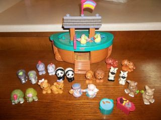 Fisher Price Little People Noahs Ark Lot 26 Baby Animals Complete Set