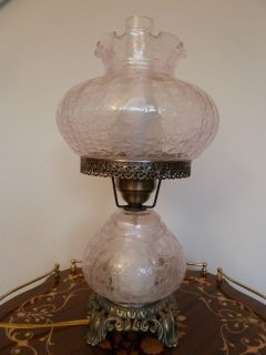 Hurricane Lamp GWTHW Style Crackle Glass Reproduction Beautiful