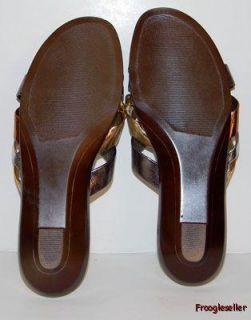 Hush Puppies Womens Slide Sandals Shoes 5 5 M Multicolor Metallics