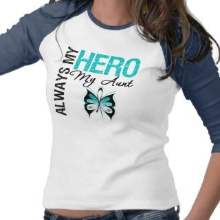 Cervical Cancer Always My Hero My Aunt Shirt