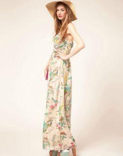 New Women Dresses Floral Maxi Dress Formal Gown Long Evening Dress