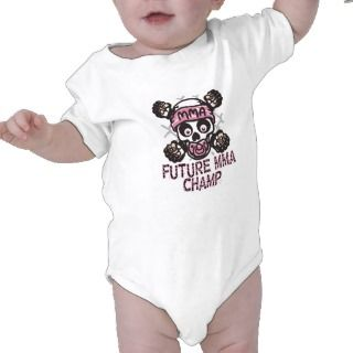 Baby MMA Skull and Binky Bodysuits