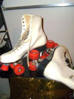 Hyde White Roller Skates 80s Sz 8 Used 14 Watchers Great Item