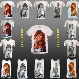 Rihanna Jay Z Pop R B Tank T Shirt Lady Gaga Remix T Shirts s M L XL