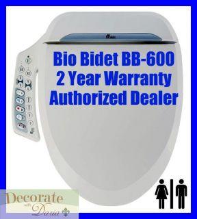 BB 600 ELONGATED Electronic Heated Toilet Seat Jet Wash Hygiene New