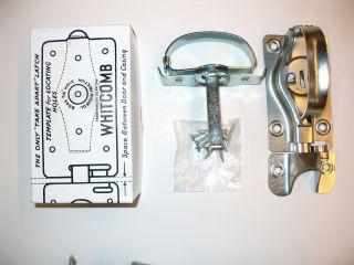 WHITCOMB Swinging Door Latch   Lockable 2 Sided Barn Door Gate Shed