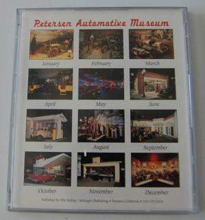 Petersen Automotive Museum 1999 desk calendar, vintage hot rod car