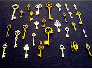 49 New Vintage Style Keys Skeleton Key Style Charm Necklace Pendant