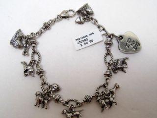 Brighton I Love My Dog Silver Plated 8 Bracelet with Photo Frame