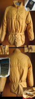 Designs True Vintage 70s Mens XL LONG GOLD DOWN FILL SKI JACKET MENS