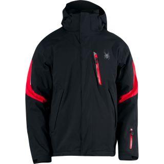 New Spyder Rival Jacket Black Red Men M Medium Ski Authentic Fast SHIP
