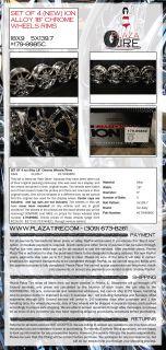 Set of 4 ion Alloy 18 Chrome Wheels Rims 18x9 Style 1798985C 5x137 9