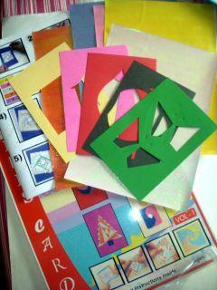 Iris Folding Kits Vol2 Papercraft Kit Cardmaking Craft Kit Creative
