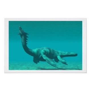 mythical sea dragon creature is reminiscent of the dinosaur called