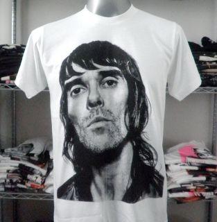 Ian Brown Stone Roses Rock T Shirt White Size Medium