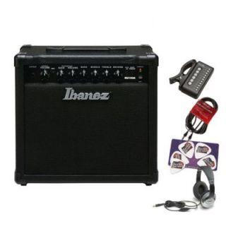 Ibanez IBZ15GR Rehearsal Rig 15 Watt Acoustic Guitar Combo Amp Bundle