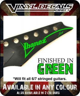Ibanez Jem Vinyl Decal Sticker Guitar Graphic