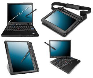 IBM Lenovo ThinkPad X61 Core Duo 1 6GHz 1GB 120GB Pen Tablet Notebook