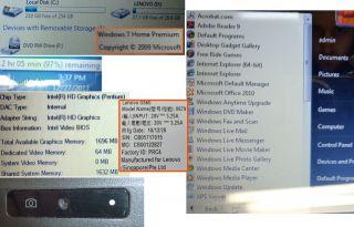 IBM Lenovo G560 Laptop Intel Pentium 2 00GHz 4 0Gb RAM 320GB Hard