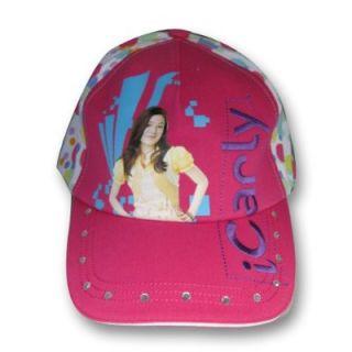 New Nickelodeon Girls Pink iCarly Baseball Cap Hat