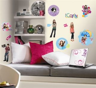 Set of 24 New iCarly Wall Decals Girls Bedroom Stickers Decor Room