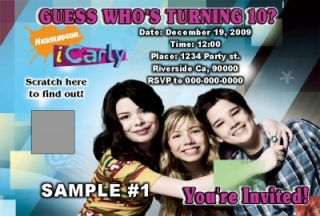 iCarly Birthday Party Invitations Favor Fast