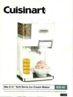 Cuisinart Ice 45 Soft Serve Ice Cream Maker