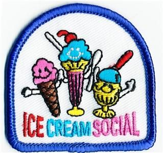 Girl Ice Cream Social Smile Patches Crests Scouts Guide