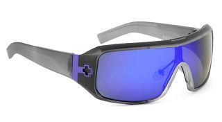 Authentic Spy Optic Haymaker Sunglasses Black Ice w Purple Spectra