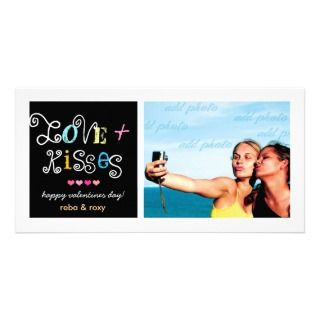 311 Love & Kisses Valentines Funky Card Personalized Photo Card
