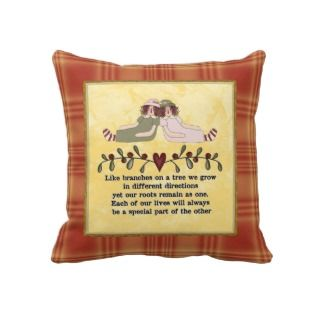 Sisters Poem Pillow