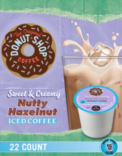 Keurig K Cups Iced Coffee 44 Count Nutty Hazelnut Flavor Donut Shop