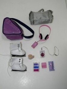 American Girl Doll MIAS ACCESSORY PACK Ice Skates, Trophy,  + MORE