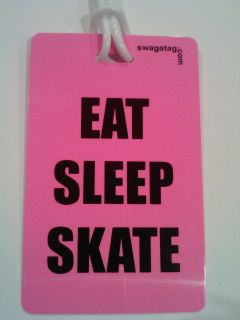 Eat Sleep Skate Pink Figure Skating Bag Tag Its Swagtagz 4 for Your