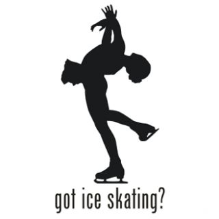 Got Ice Skating Skate Vinyl Graphic Decal Sticker