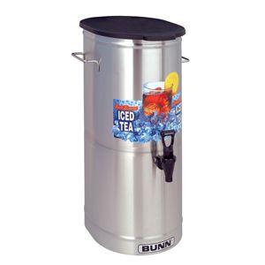 Bunn TDO 5 5 Gallon Iced Tea Dispenser with Solid Plastic Lid Bunn