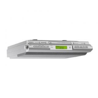 Sony ICF CDK50 Under Cabinet Kitchen CD Player Am FM Clock Radio