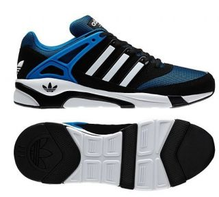 new Adidas Originals Mens Icon LQC Shoes Black Blue White Trainers