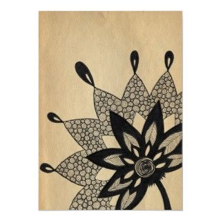 Classic lotus flower poster design by Eclectic Cycle.