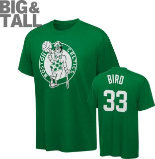 Larry Bird Big Tall Boston Celtics Name and Number T Shirt