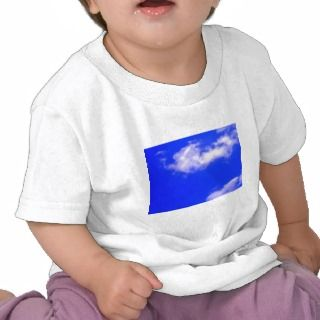 Clear Blue Sky and White Clouds T shirt