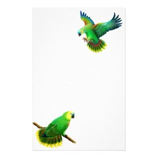 Blue Fronted  Parrot Stationery