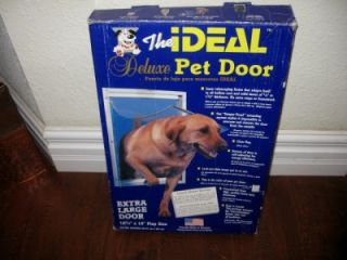 Ideal Deluxe Extra Large Pet Dog/Doggy/Cat Door White Heavy Duty