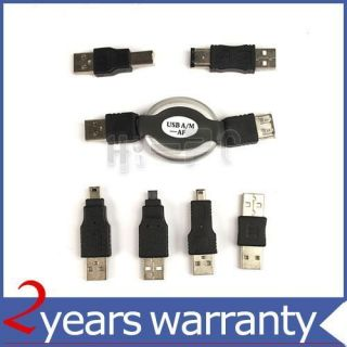 6in1 USB Adapter Travel Kit Cable to Firewire IEEE 1394